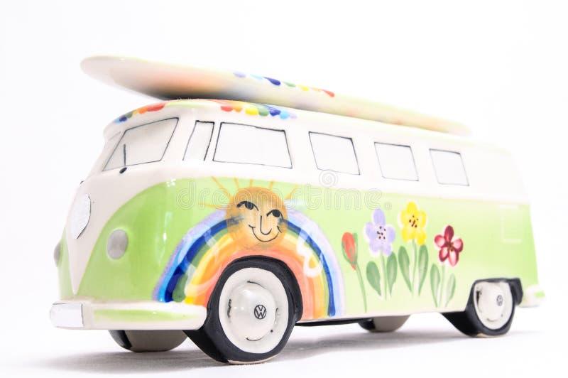 Van с доской прибоя стоковые изображения