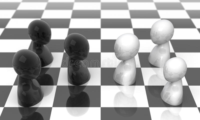 Van aangezicht tot aangezicht. vector illustratie