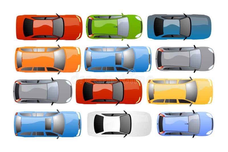 Van achtergrond auto's vector royalty-vrije illustratie