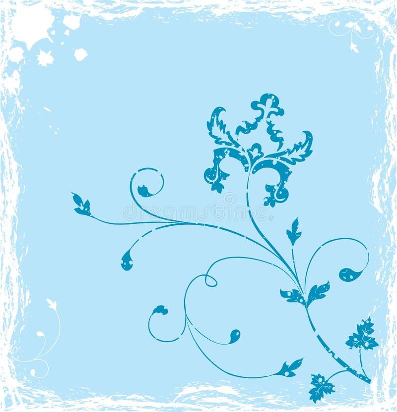 Van Achtergrond grunge bloem, elementen voor ontwerp, vector vector illustratie