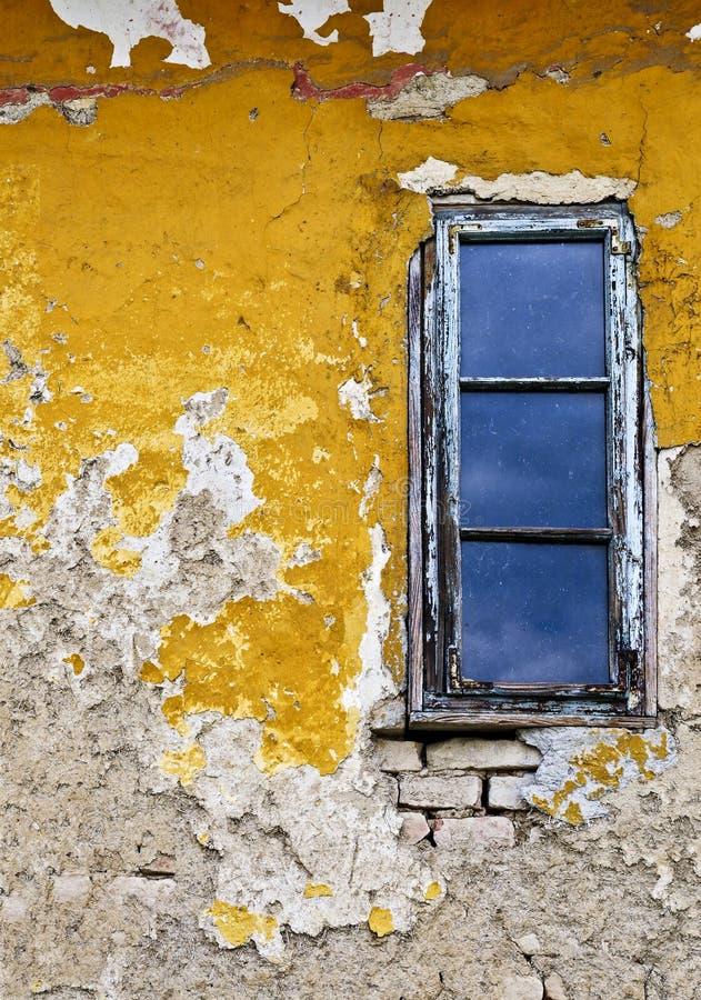 Van Achtergrond grunge muur en venster stock afbeelding