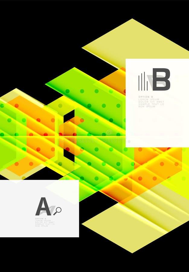 Van achtergrond kleurendriehoeken ontwerp royalty-vrije illustratie