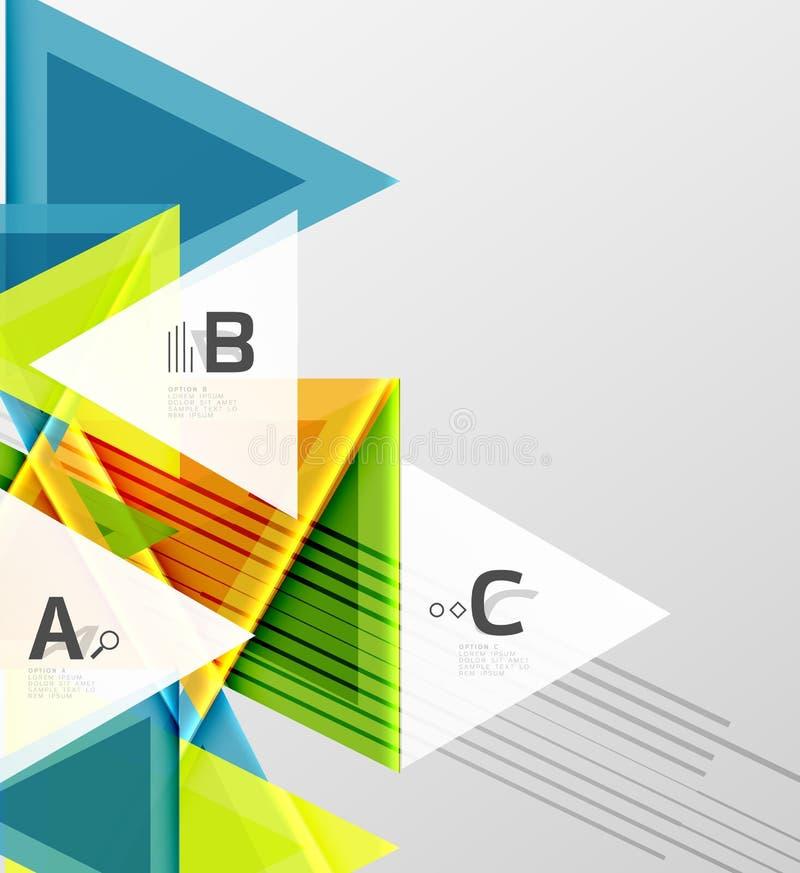 Van achtergrond kleurendriehoeken ontwerp stock illustratie