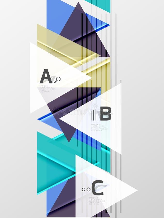 Van achtergrond kleurendriehoeken ontwerp vector illustratie
