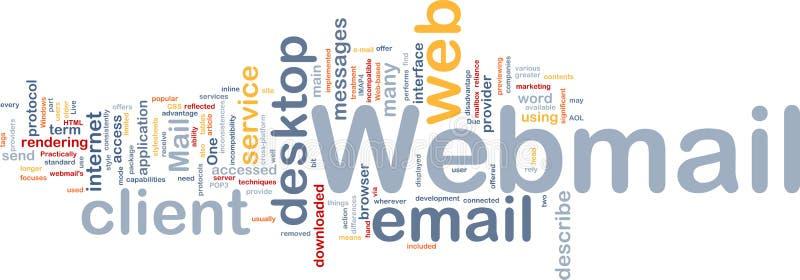 Van Achtergrond webmail concept vector illustratie