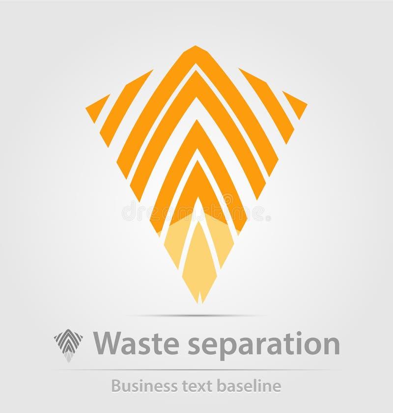 Van afvalscheiding en recyclation bedrijfspictogram royalty-vrije illustratie