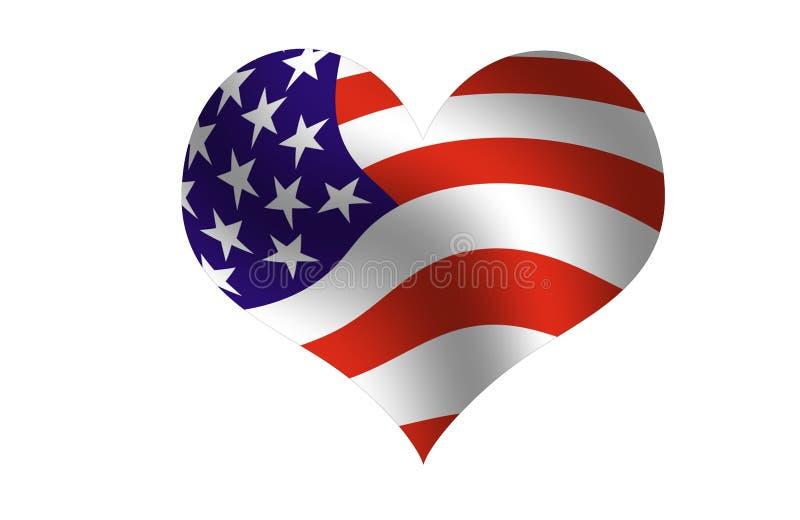 Van Amerika met liefde stock illustratie