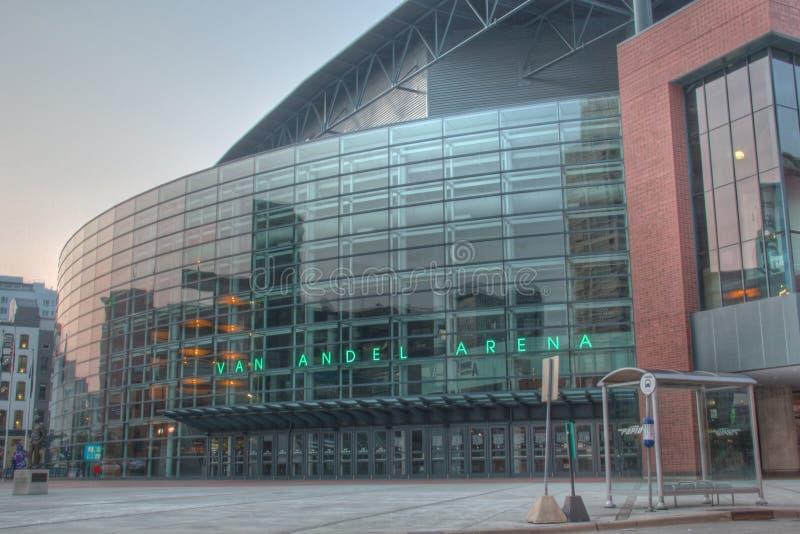 Van andel Arena em Grand Rapids Michigan fotografia de stock