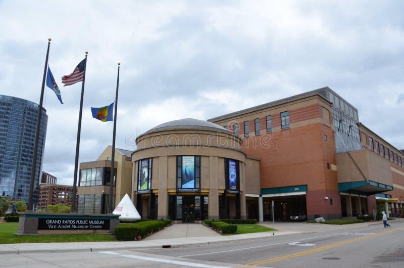 Van Andel Museum Center i Grand Rapids royaltyfria bilder