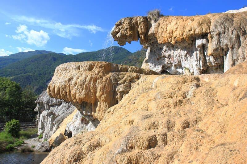 Van angst verstijfde Fontein dichtbij Réotier in Franse Hautes-Alpes stock foto's