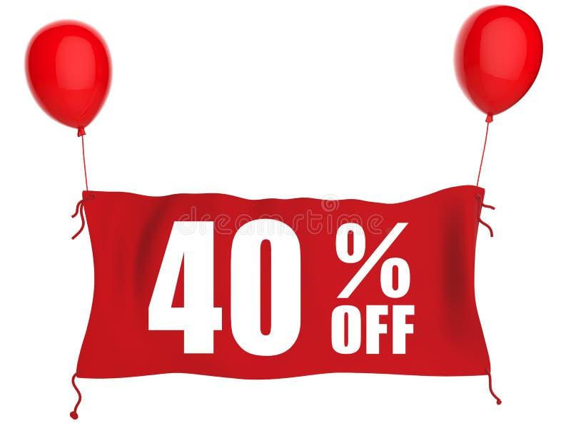 40% van banner stock illustratie
