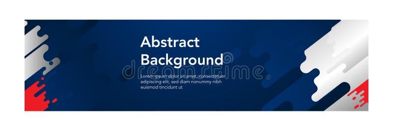 Van banner abstracte moderne design_Dark blauwe kleur als achtergrond stock illustratie