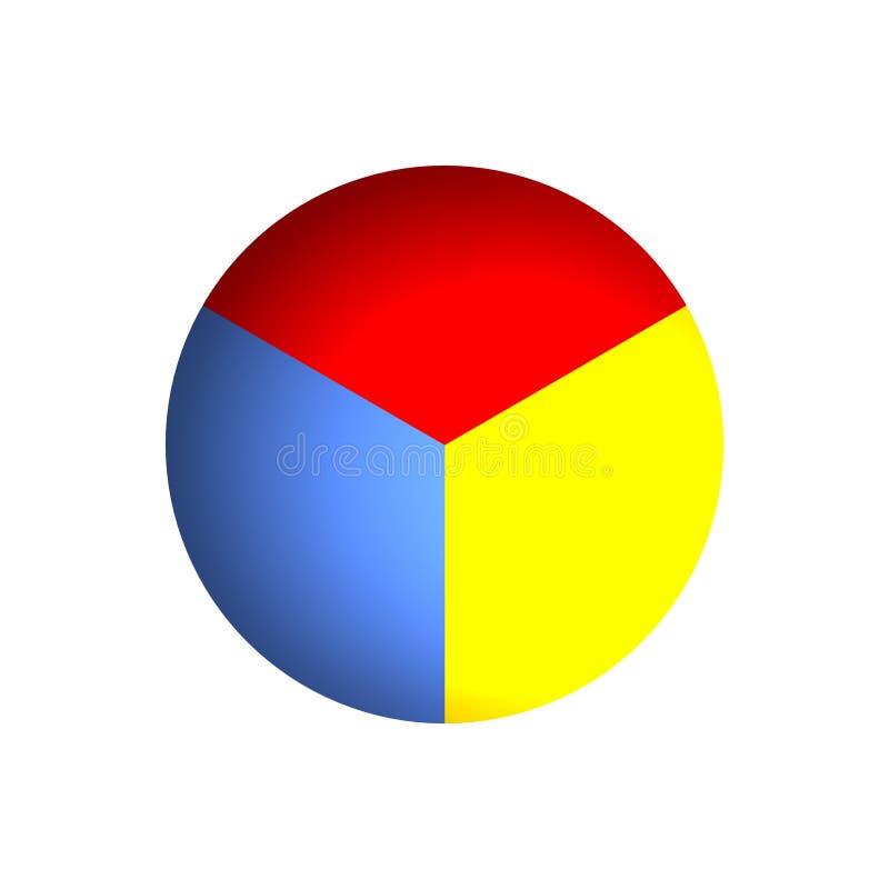 Van bedrijfs 33% Cirkeldiagram royalty-vrije illustratie