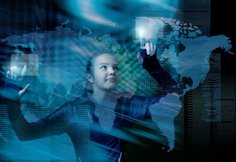 Van Bedrijfs Internet van de kunst mededeling stock foto