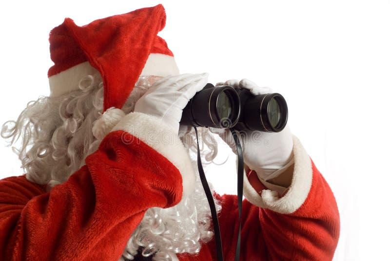 Van bedrijfs Kerstman Strategie stock foto