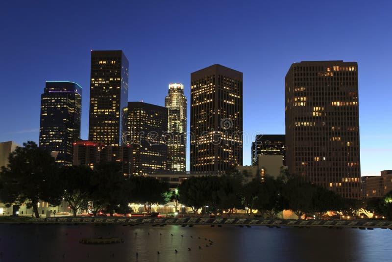 Van bedrijfs Los Angeles district stock fotografie