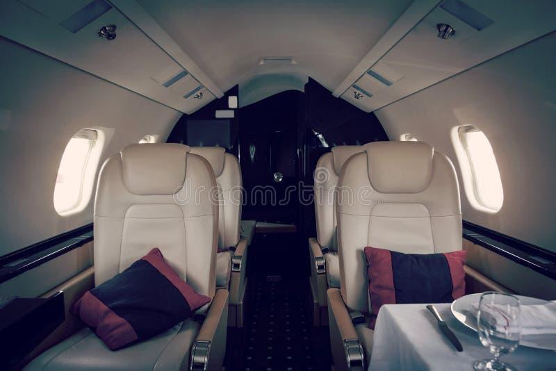 Van bedrijfs luxe binnenlandse vliegtuigen luchtvaart stock afbeelding