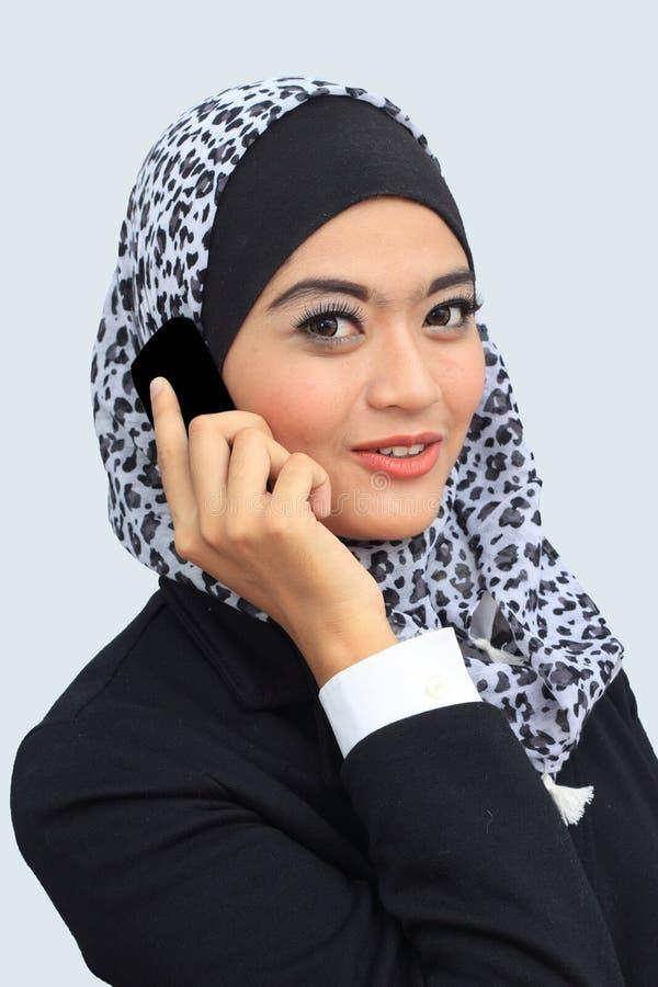 Van Bedrijfs muslimah concept stock foto