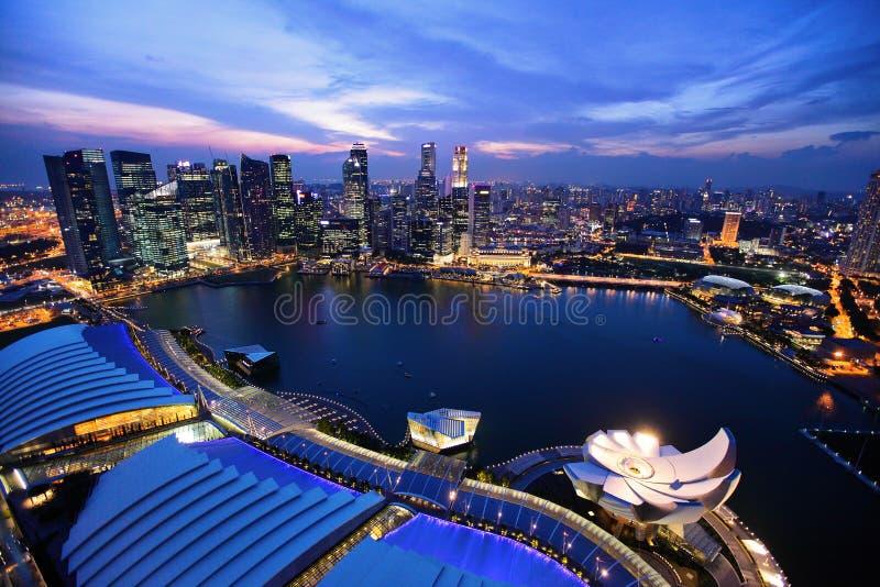 Van bedrijfs Singapore district stock foto's