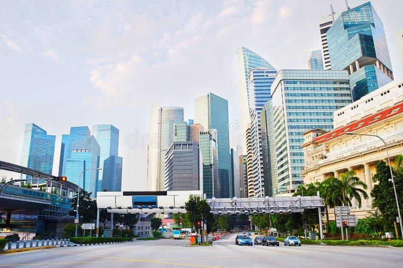 Van bedrijfs Singapore district royalty-vrije stock fotografie