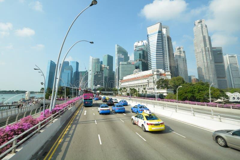 Van bedrijfs Singapore district stock afbeelding