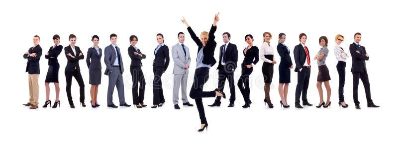Van Bedrijfs succesfull vrouw en haar team royalty-vrije stock fotografie
