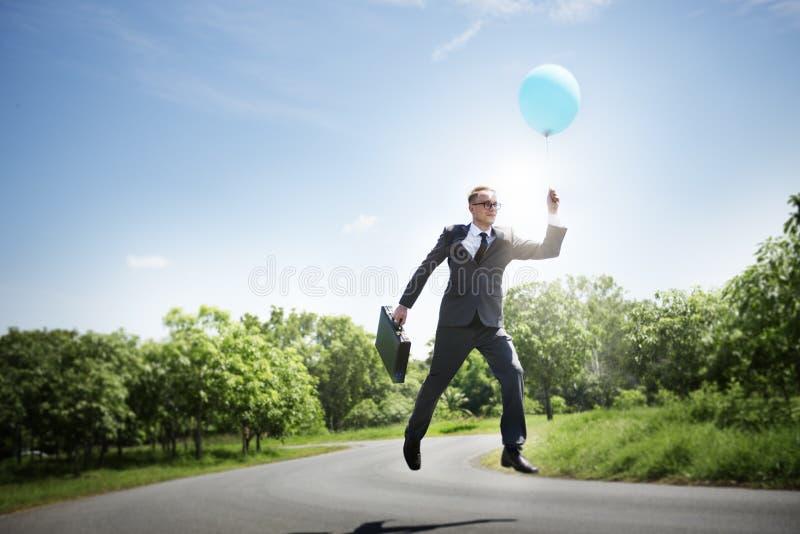 Van bedrijfs zakenmanrelaxation refreshing success Concept stock afbeeldingen