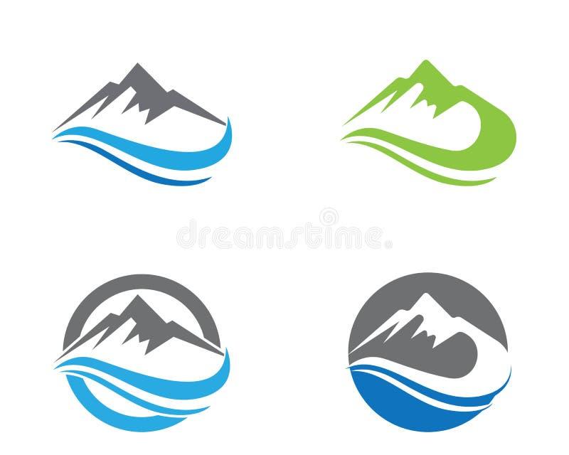 Van bergemblemen en symbolen malplaatjepictogrammen vector illustratie
