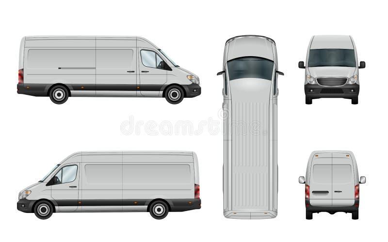 Van blanca template stock de ilustración