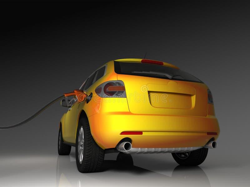 Van brandstof voorzien auto royalty-vrije illustratie