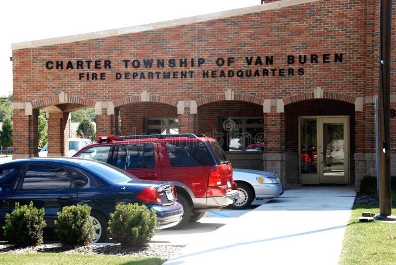 Van Buren Township Fire Department headquarters. Fire Department Headquarters for charter township of Van Buren in Michigan royalty free stock photography
