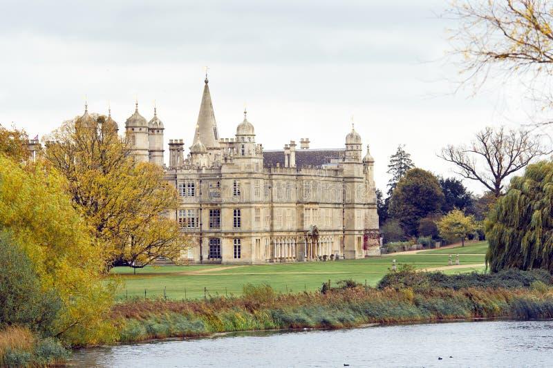 Van Burghley (Burleigh) het huis, Stamford, Engeland stock fotografie