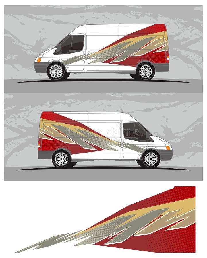 Van, caminhões, gráficos do carro e do veículo, vinis & decalques ilustração stock