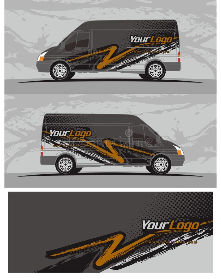 Van car and vehicle decal Graphics Kit designs royalty free illustration
