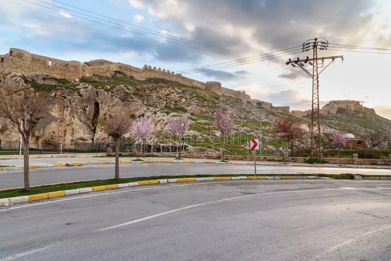 Van castle auf Sonnenuntergang Die Türkei stockfotografie