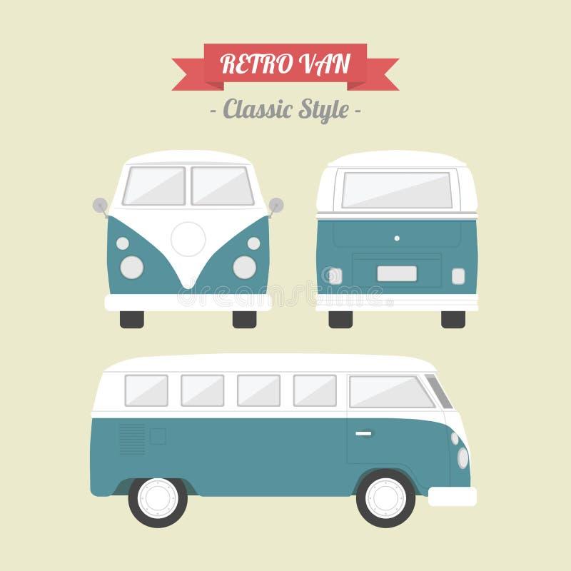 Van. Classic van, classic retro style vector illustration