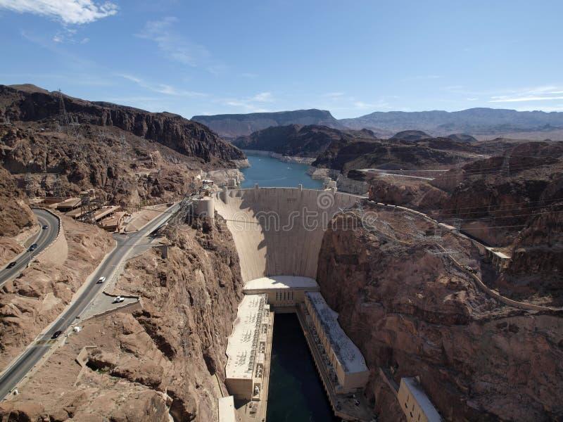Van Colorado de Rivier en van Hoover Dam royalty-vrije stock afbeelding