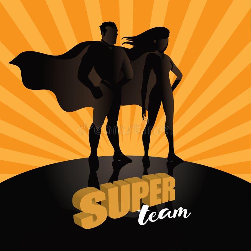 Van commerciële team super helden ontwerp als achtergrond vector illustratie