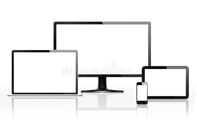 Van communicatie Concept Apparaten het Digitale Online Internet stock illustratie