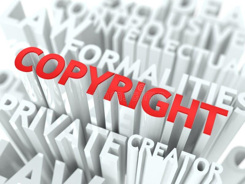 Van Copyright Conceptueel Ontwerp Als achtergrond. vector illustratie