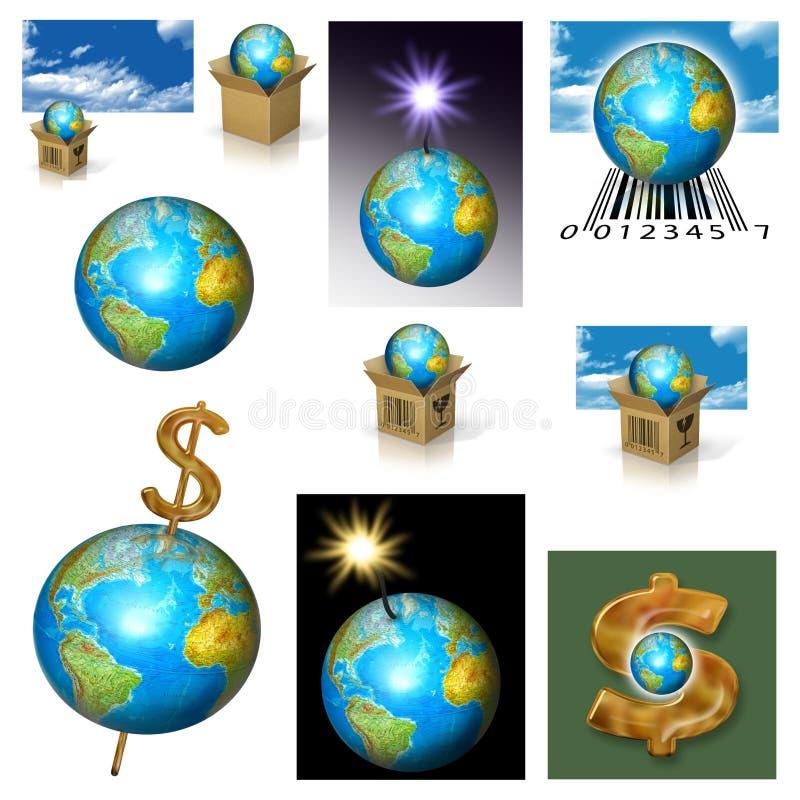 Van de aarde (Planeet) de Zaken vector illustratie