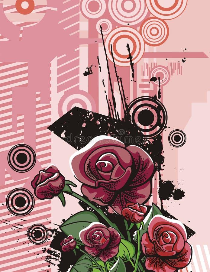 Van de achtergrond bloem reeks vector illustratie