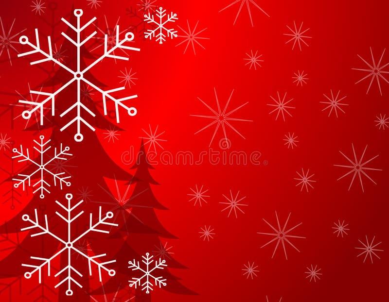 Van de Achtergrond boom van de sneeuw Patroon 2 stock illustratie
