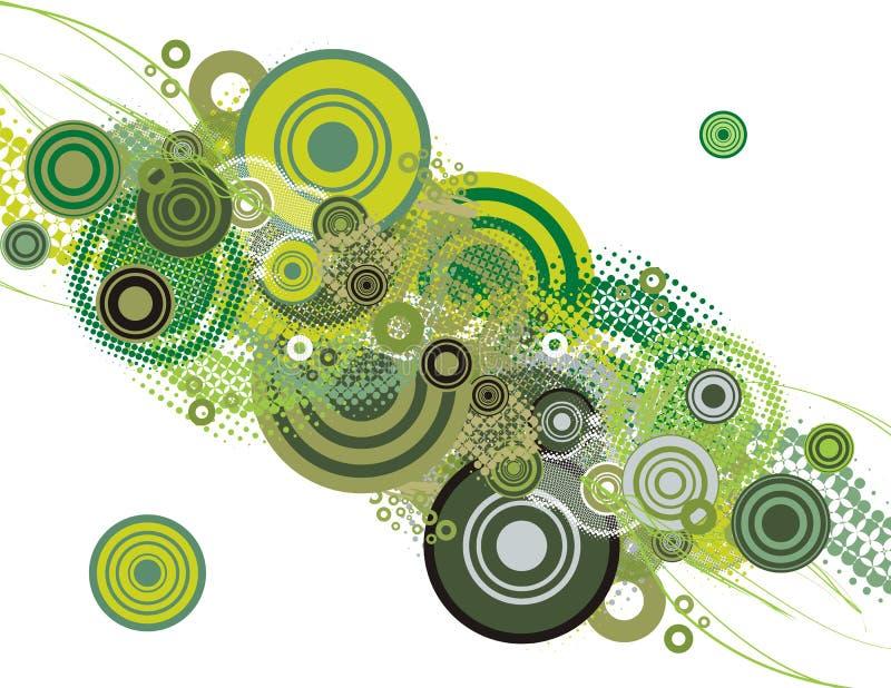 Van de achtergrond cirkel reeks vector illustratie