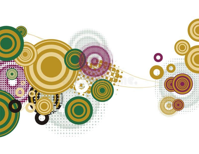 Van de achtergrond cirkel reeks stock illustratie