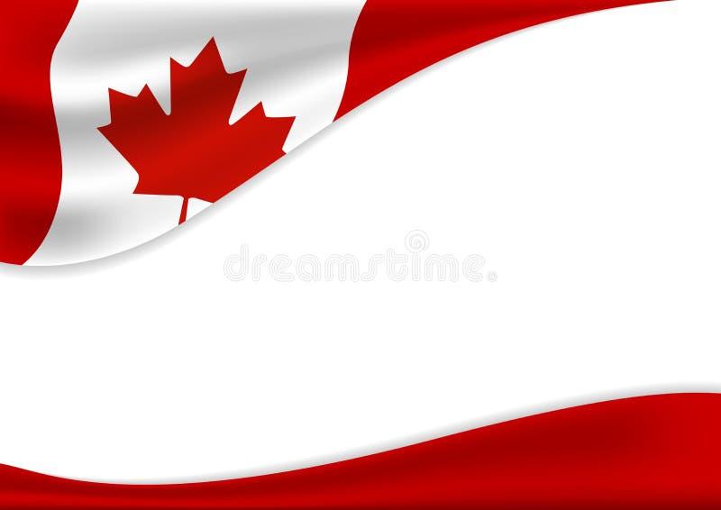 Van de de achtergrond dagbanner van Canada ontwerp van vlag met exemplaarruimte vector illustratie