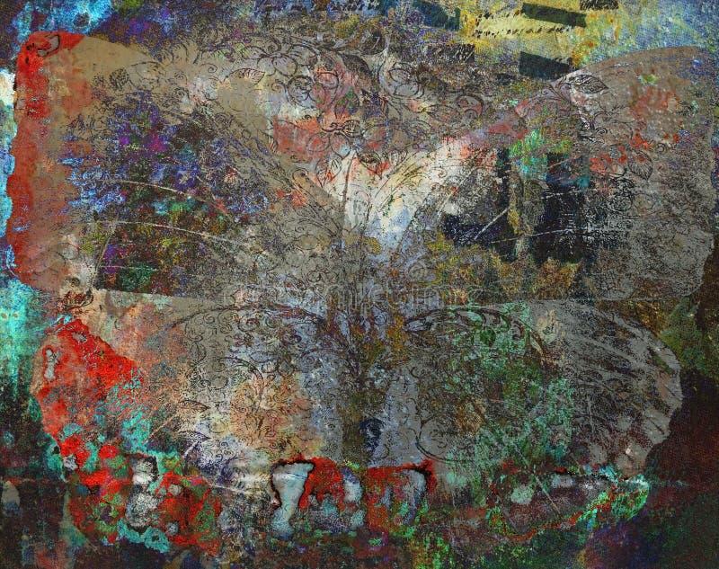 Van de Achtergrond grungevlinder textuur royalty-vrije stock foto's
