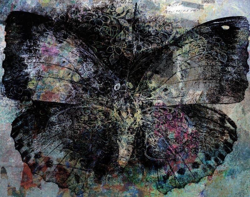 Van de Achtergrond grungevlinder textuur stock afbeelding