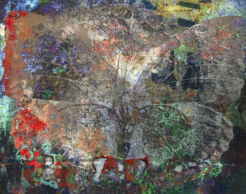 Van de Achtergrond grungevlinder textuur stock foto's