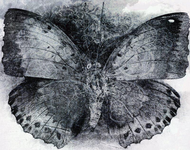 Van de Achtergrond grungevlinder textuur stock fotografie